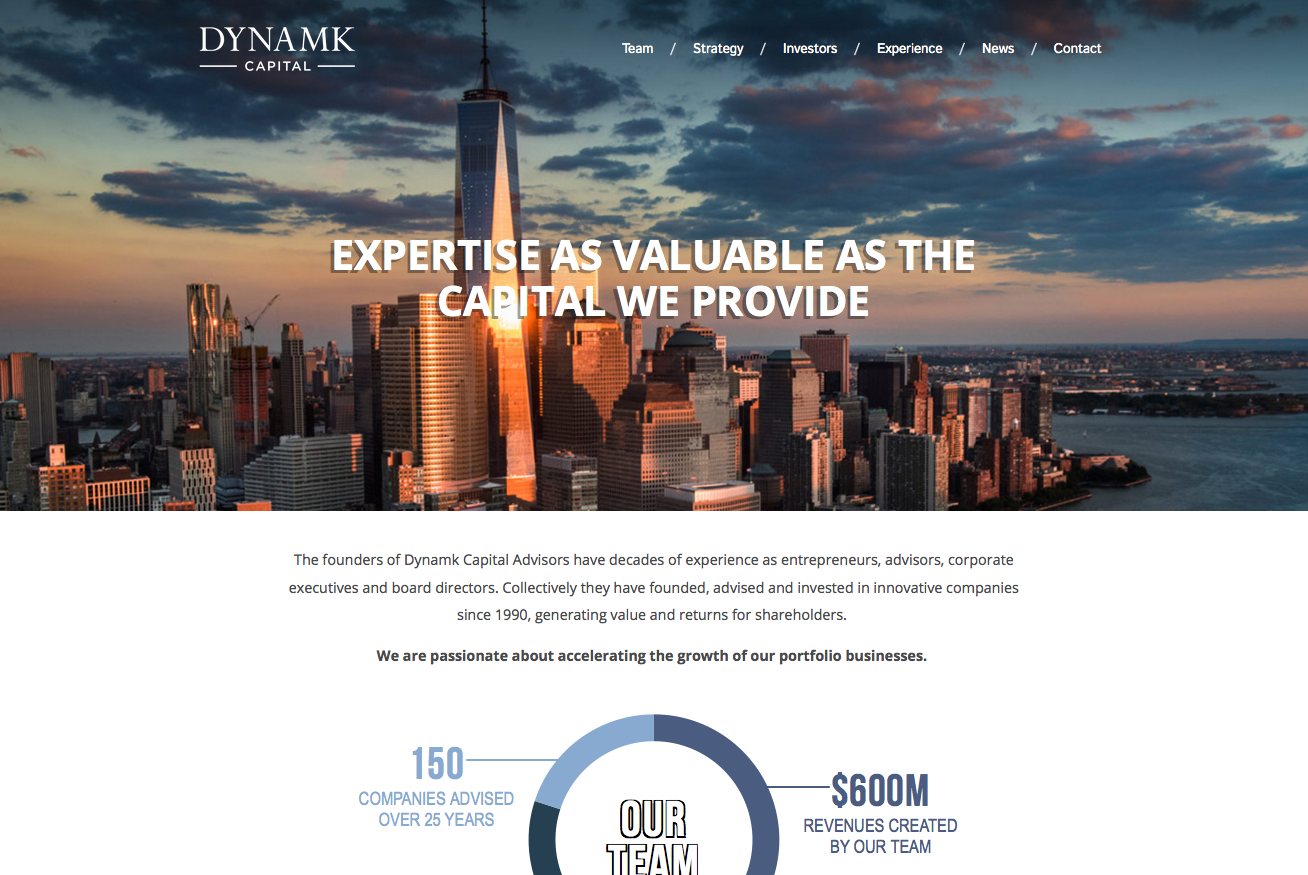 UP Launches Site For Dynamk Capital